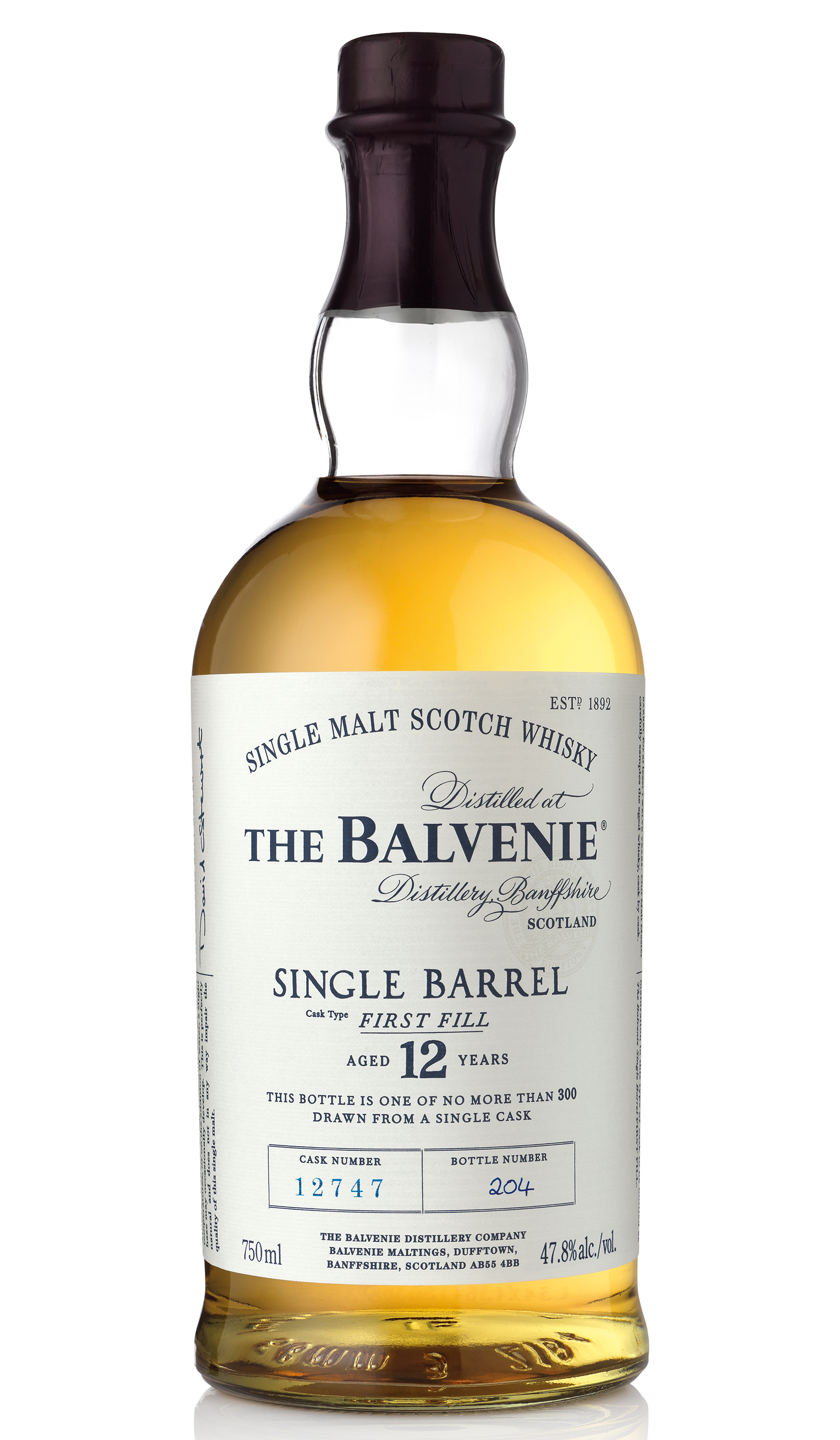 Single Barrel First Fill 12 Years,