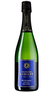 Champagne 100% Pinot Meunier, Extra Brut, Champagne Langlet